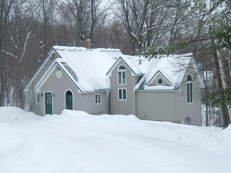 Winter from road - Okemo Mountain Getaway; Walk To Trails; Sleeps 16 - Ludlow - rentals