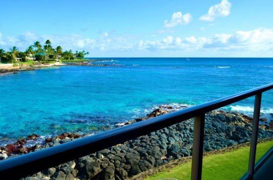lanai view - Free car* with Kuhio Shores 208 - Beautiful 1bd oceanfront with stunning ocean views. Next door to Lawai Beach. - Poipu - rentals