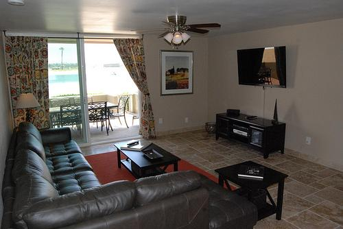 Living room with bay view - Super House with 2 Bedroom, 2 Bathroom in San Diego (3750 Bayside Walk #04) - San Diego - rentals