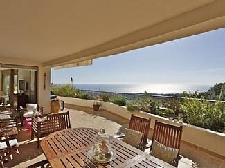 Terrace with wooden furniture - Now 5% off for bookings in July  - Spacious Panoramic Sea View - Marbella - rentals