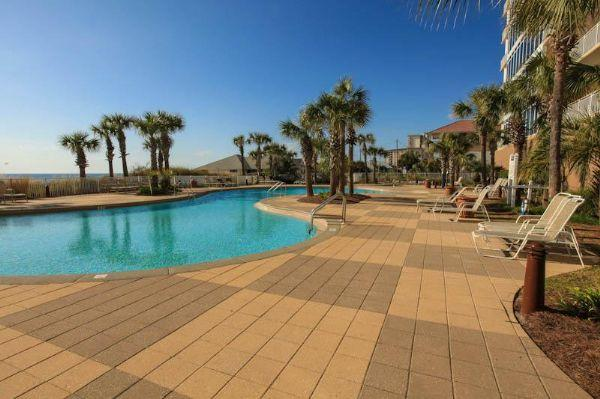 Gorgeous Tropical Pool at Sterling Beach - Sterling Beach Resort-5th Floor-Unit 501-3BR-3BA - Panama City Beach - rentals