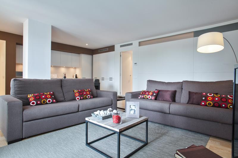 Living Room  - Mistral City Beach Apartment with Pool (3 BR) 1.3  - 10% OFF FALL Booking - Barcelona - rentals