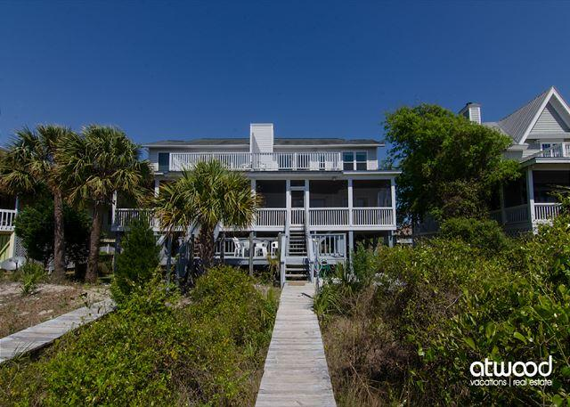 Sunset On The Sound - Comfortable Beach Front Duplex - Image 1 - Edisto Beach - rentals