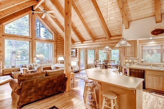 #30 VANESSA A jewel of a log cabin home $170.00-$205.00 BASED ON FOUR PEOPLE OCCUPANCY AND NUMBER OF NIGHTS (plus county tax, SDI, and processing fee) - Image 1 - Plumas County - rentals