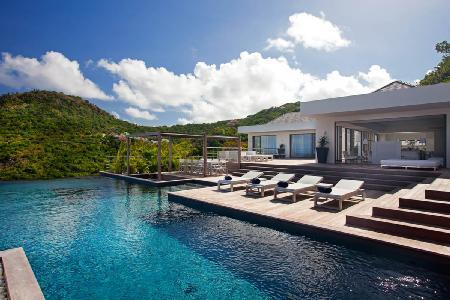 Hillside Haven Eternity with ocean view, sleek terrace, infinity & plunge pool - Image 1 - Flamands - rentals