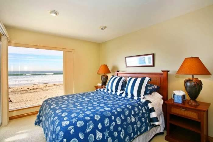 View of the Pacific from Master suite with Queen bed - Bluewater San Diego Vacation Rental - Mission Beach - Mission Beach Sunset - San Diego - rentals