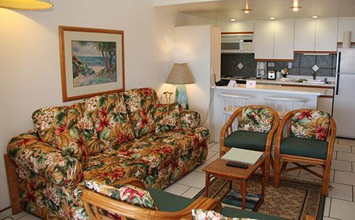 Living area from lanai - Kepuhi Beach resort 2224 - Maunaloa - rentals