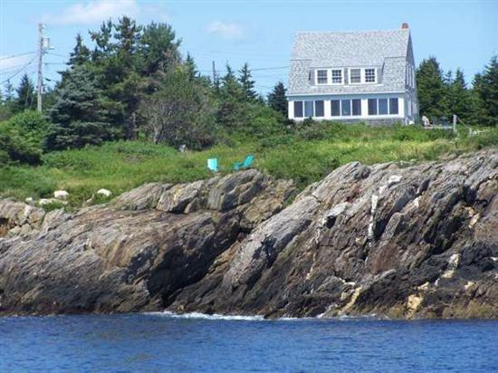 View of Spindrift from the Ocean - Spindrift - Bailey Island - rentals