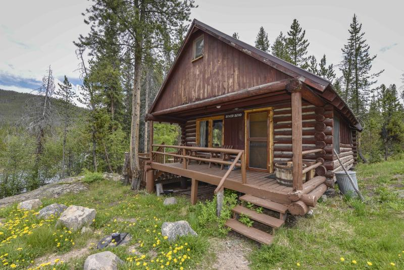 Beautiful Cabin in woods along the bend of a River - Shadowcliff Lodge Riverbend Cabin - Grand Lake - rentals