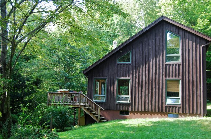 Grass yard surrounded by tall trees - Berkshire Retreat. Pets Welcome. No Extra Fees. - Hancock - rentals