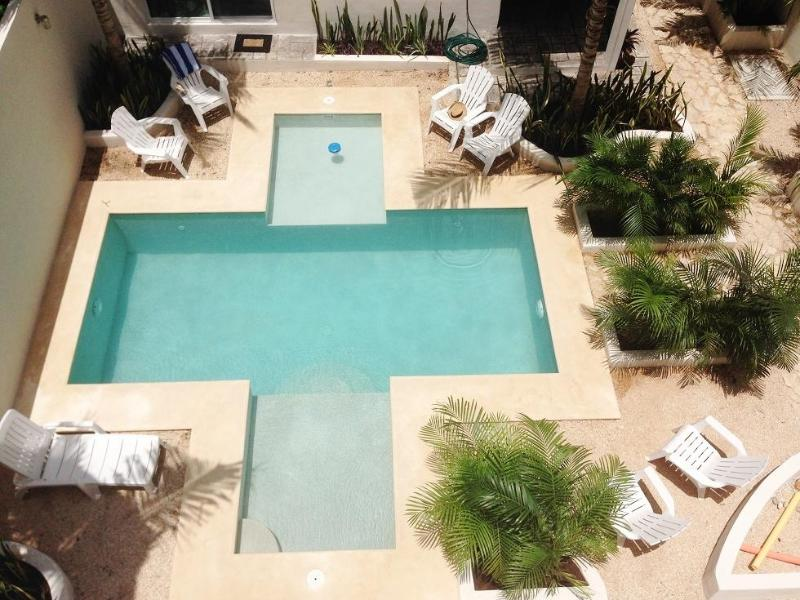 Relaxing pool and garden, great after a day at the beach - The Palms Jungle Apartments 3  Tulum,s best deal - Tulum - rentals