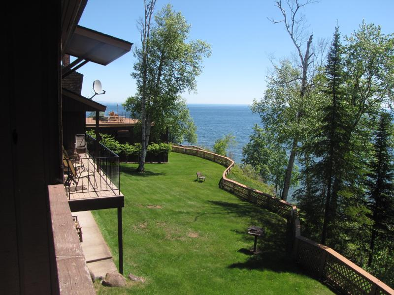 View of L. Superior from the covered deck of our unit #19 - Lutsen Tofte L. Superior getaway Condo for rent - Tofte - rentals
