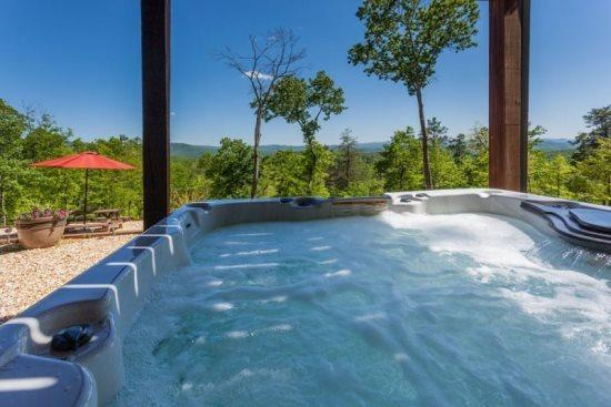 Spectacular views from the private Hot Tub - Majestic Hideaway - Ellijay GA Cabin - Ellijay - rentals