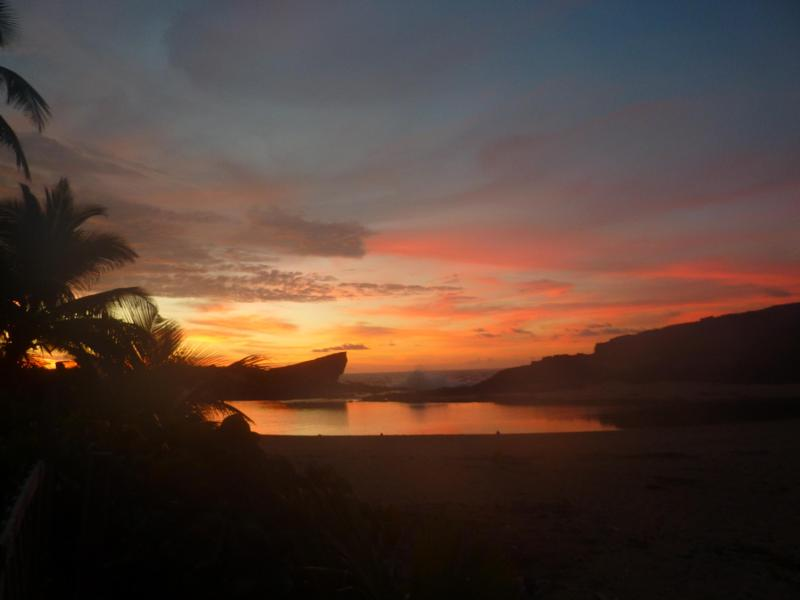 Sunset from the back patio - Oceanfront Home - Arecibo - rentals