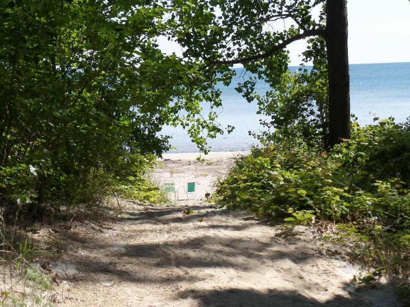 Walkway to your private, sandy beach area - Spectacular Beachfront Home - Sleeps 15! - Fort Erie - rentals