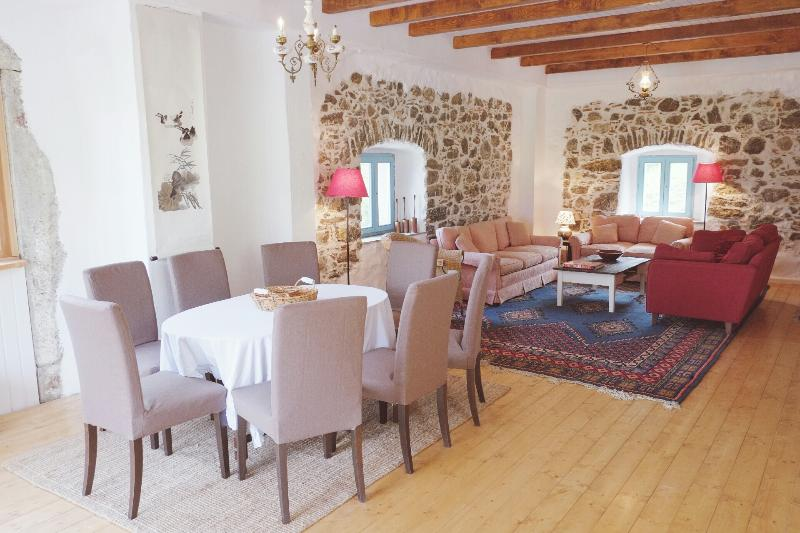The Great Room occupies the whole of the middle floor - Soca Valley Berg Haus - sleeps 10 - Livek - rentals