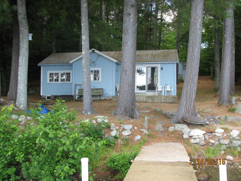 View of Property from the Lake - Beautiful Lake Front Cottages-Private Sandy Beach - Moultonborough - rentals