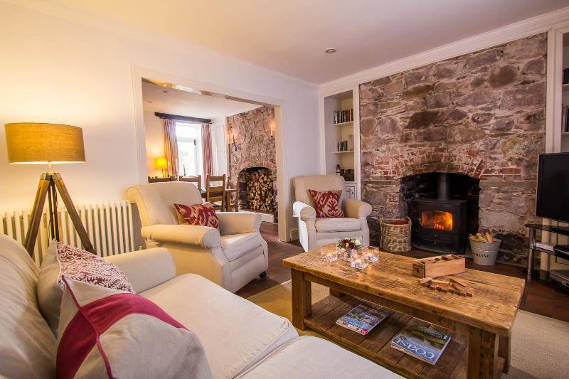 Living Room - Blue Monkey - Luxury Boutique Coastal Cottage - Cawsand - rentals