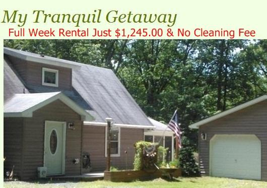 Book It Now & SAVE - My Tranquil Getaway - Lake Wallenpaupack, Pa - Lake Wallenpaupack - rentals