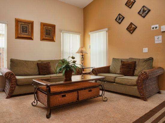 Living Area - HL5P451LD Luxurious 5 BR Holiday Home Just Near Walt Disney - Davenport - rentals