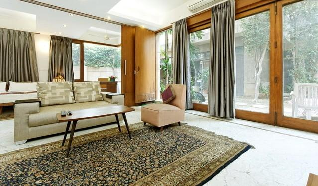 living room - Service apartment luxurious contemporary in garden - Greater Kailash - rentals