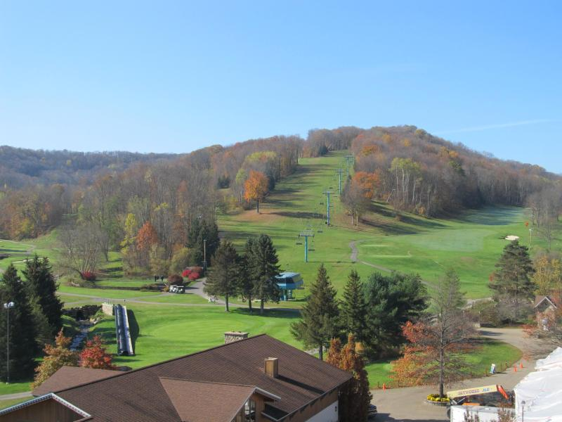Summer view from balcony - Tamarack Club 4 season slopeside at Holiday Valley - Ellicottville - rentals