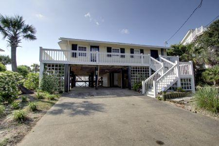 Street Side - Clervue Cottage - Folly Beach - rentals
