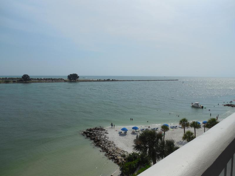 Gulf View from balcony - Newly remodeled WATERFRONT 2/2 - Clearwater Beach - rentals