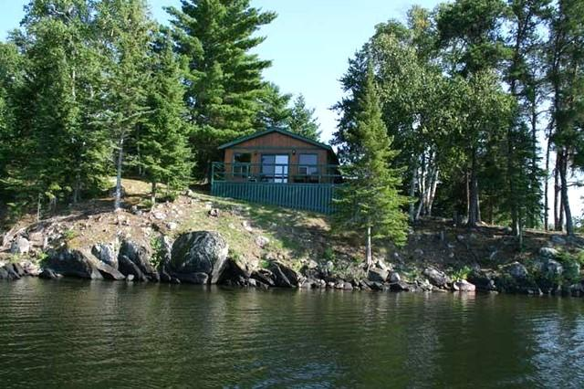 Deck faces west for best sunsets - Totem Cabin - Sioux Narrows - rentals