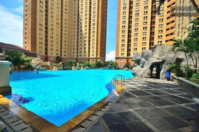 Swimming Pool - Furnished 2 Bedrooms Apartment, Central Jakarta - Jakarta - rentals