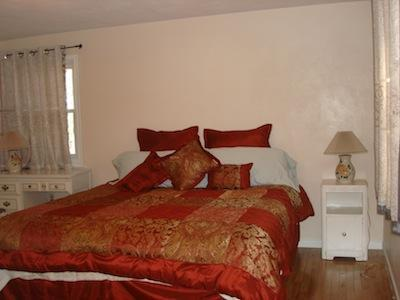 Room A: A king bed and a pull out queen bed at IthacaVacation.com - Near Ithaca, Cornell, Waterfall, Park and  Wineries - Ithaca - rentals