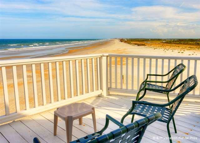 This could be your morning coffee break - Blue Water View Beach Front House, 4 bedrooms, Elevator, HD - Saint Augustine Beach - rentals