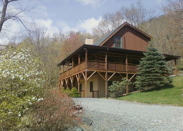 Fins n Feathers a authentic log cabin located in Seven Devils, sleeps 10 - Image 1 - Banner Elk - rentals