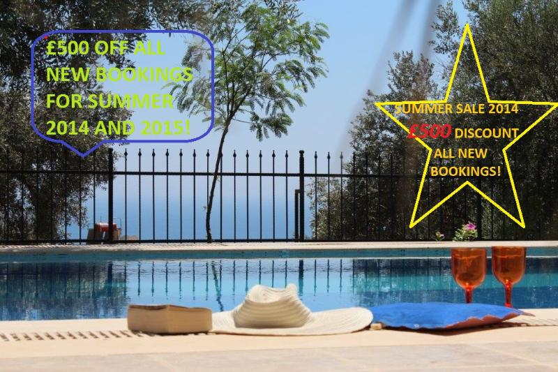 SUMMERF SALE £500 Discount for ALL new Booings- Take a dip in the cool pool - Luxury Sea View Villa - Blue Olive  ~ KALKAN - Antalya - rentals