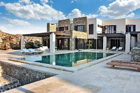 Modern retreat Honde with superb sea views, sleek infinity pool, near beach - Image 1 - Mykonos - rentals
