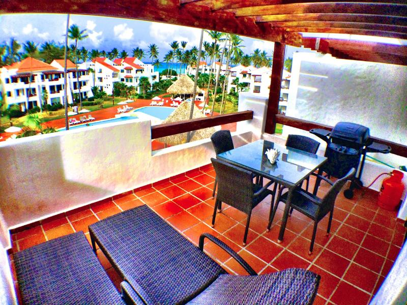 Balcony View - Stanza Mare 2 Bedroom Oceanview Apartment G406 - Punta Cana - rentals