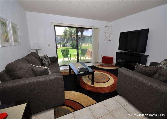 Relax in our spacious living room - condo living at its best! - Ocean Club II 34 pool, walk to the beach - Saint Augustine - rentals