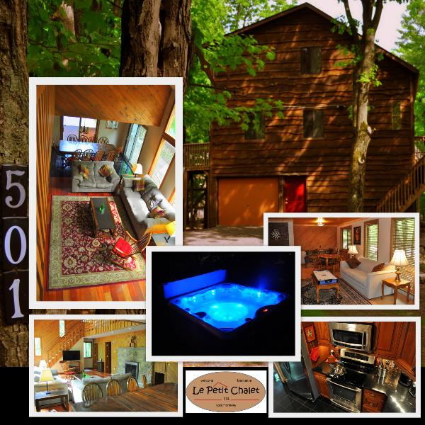 Welcome to your Lake Harmony cabin! - Private French Inspired Chalet W/ Jacuzzi Newly Opened For Rental Accomodations - Lake Harmony - rentals