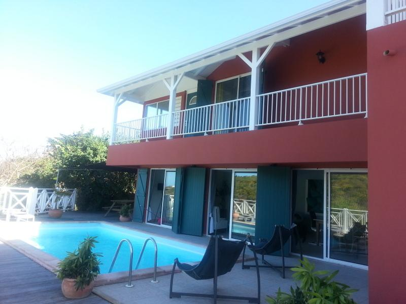 Ocean view villa with private pool sleeps 6-12 - Image 1 - Oyster Pond - rentals