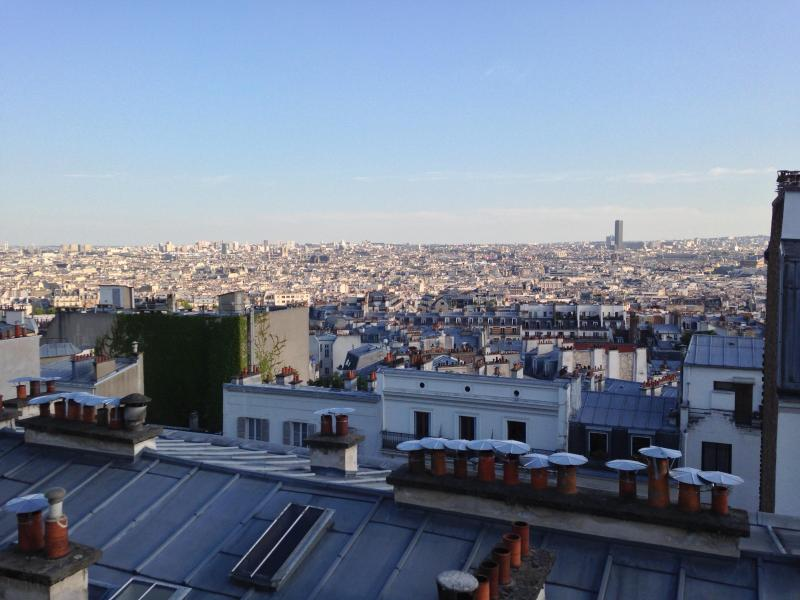 From the living room, guests can see almost all Parisian monuments (Notre Dame, Opera, Arc de Triomphe, Orsay, Louvre...) - Montmartre Village : fantastic scenic views ! - Paris - rentals