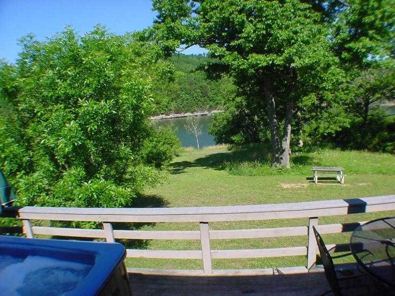 Blue Water Drive #65-4 - View from the deck! - Six-Person Hot Tub, Lakeside, King Beds, Fireplace - Holiday Island - rentals