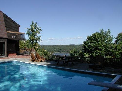 Pool and deck - Spectacular Hudson Riverfront House, Pool, Views - Highland - rentals
