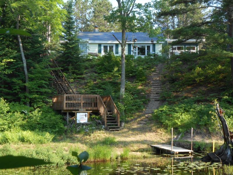 """Riverfront cottage with open wood deck and floating dock - Lake Superior Cottage Marquette""""Camp Luke Charles"""" - Marquette - rentals"""