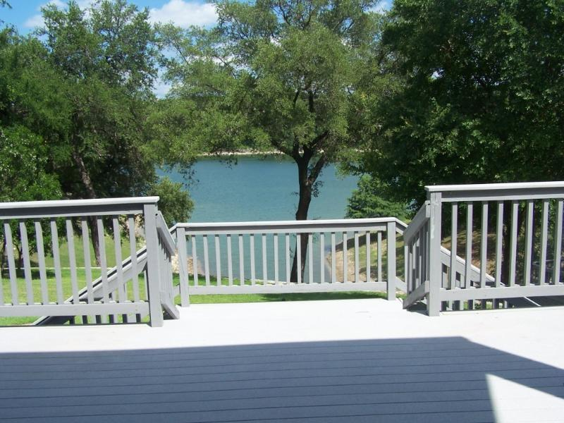 Lake Travis Vacation Porch View looking at Lake - *SPECIAL** Lg Luxury Waterfront Home--Sleeps 13 - Spicewood - rentals