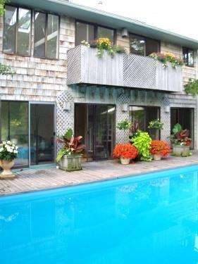 Multiple sliding doors overlooking  pool - Beautiful Beach House ***ONLY A FEW WEEKS LEFT*** - Sayville - rentals