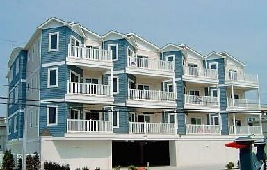 Front of Building. BEAUTIFUL views! Use of 2 parking spaces and storage unit. - Top Floor Condo, Amazing Views, 1 bl. from beach! - Wildwood Crest - rentals
