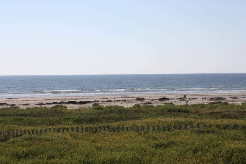 View From Balcony to Beach - Pointe West-4 Bdr Beachfront Villa-Pools Are Open! - Galveston - rentals