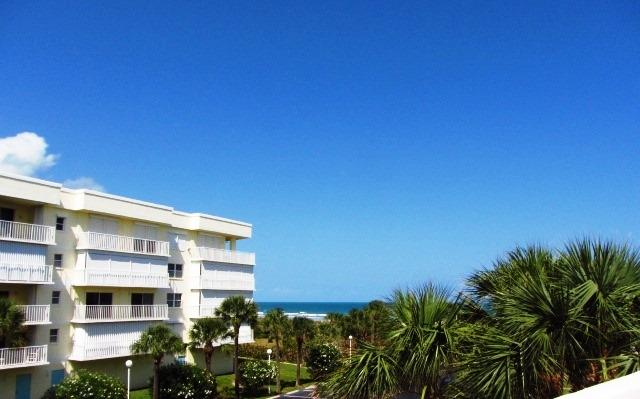 View from the balcony - Closest beach to Orlando Oceanfront complex w view - Cape Canaveral - rentals