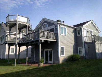 views of Block Island and Point Judith harbor from deck - Amazing Water View - Walk to Beach *BOOKING 2015* - Narragansett - rentals