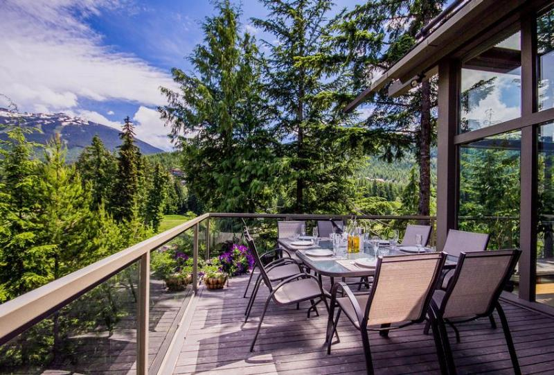 The view from our outdoor dining area! - Nighthawk Lane - Whistler - rentals
